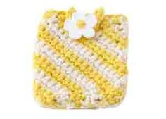 Crochet Sunshine Stripes Cellphone Holder