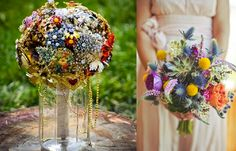 Incorporating flowers that are less seen at traditional weddings is a great way to incorporate your unique style into your fanciful wedding. #weddings