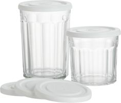 Working Glasses and Lid in Bar and Drinking Glasses | Crate and Barrel - I love these - have both sizes