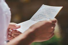 Desde o comecinho da organização do casamento tínhamos o desejo de escrever nossos próprios votos. Na noite anterior à cerimônia esbocei algumas palavras e no dia, enquanto minha mãe era embelezada, eu terminei de escrever os meus... >>> clique na foto para ver o post completo!