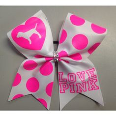 Love Pink Texas Cheer Bow ($12) ❤ liked on Polyvore featuring accessories, hair accessories, grey, ties & elastics, pink hair accessories and bow hair accessories