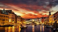 Canals, Venice, Italy Canal Grande in Venice is the major water-traffic corridor in the city. The canal is 4 kilometers long...