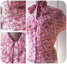 BowBlouse free patterns kostenloses Schnittmuster DIY