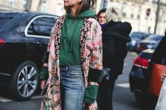 How French Girls Do Street Style For Fashion Week  #refinery29  http://www.refinery29.uk/2016/03/105738/paris-fashion-week-fall-winter-2016-street-style-pictures#slide-18  Vetements sighting, numero deux....