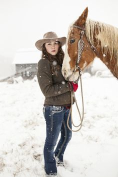 No one works as hard as a cowgirl, except maybe her Sheila's Delight Jacket! Made from 8 oz oilskin this jacket has a zipper, zip chest pocket, inside security pocket, cotton lining and taffeta lining in the sleeves and below the waist for easy movement. Cowboy And Cowgirl, Cowgirl Style, Horse Photos, Horse Pictures, Senior Pictures, Female Portrait Poses, Winter Horse, Horse Girl Photography, Rodeo Life