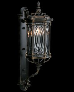 """Warwickshire 33"""" Exterior Wall Sconce By Fine Art Lamps - Wrought Iron Patina 612281 $1,134.00"""