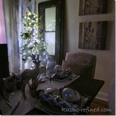 Christmas Tablescape Roaming Deer