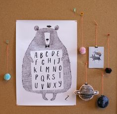 Image of Alphabear print