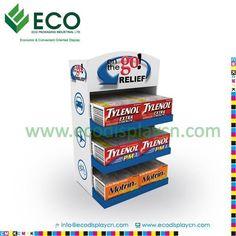 Three Tiers Cardboard Counter Top Display Email:sales03@ecodisplaycn.com Website:www.ecodisplaycn.com