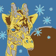 Giraffe Art Print by whiterabbitart | Society6