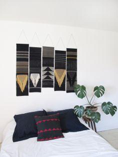 Black wall hangings by La Tòrna https://www.facebook.com/latorna7