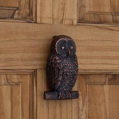 Owl Brass Door Knocker - Oil Rubbed Bronze