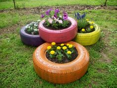 uses for old tires in the garden