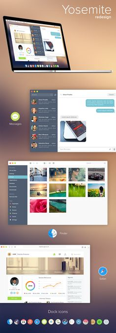 OSX Yosemite redesign by Ghani Pradita, via Behance #interface #ui #web