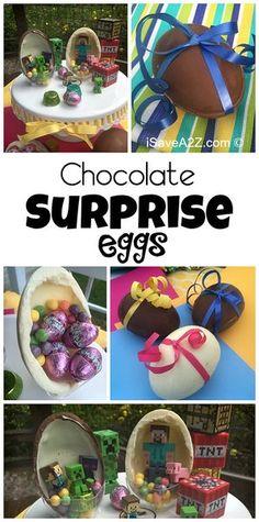 Homemade Chocolate Surprise Eggs