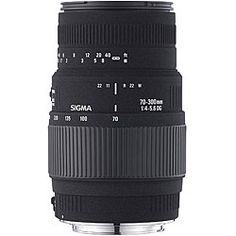 @Overstock - Sigma 70-300mm F4-5.6 DG macro lens optimized for use with Canon DSLR cameras  Multi-layer lens coating and design reduces flare and ghosting  Minimum focusing distance of this photo accessory is 59 inches at all zoom settingshttp://www.overstock.com/Electronics/Sigma-70-300mm-F4-5.6-DG-Macro-Canon-Camera-Lens/4495186/product.html?CID=214117 $169.00