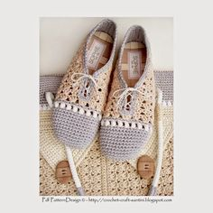 CROCHET SLIPPER/SHOES WITH MATCHING SHOPPING BAG! NEW PATTERN!