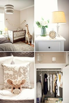 I love the bedding. Great colors for the gender-neutral nursery. I always said i wanted the neutral giraffe print for my baby girls nursery!