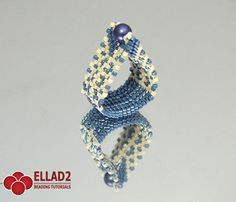 Beading Tutorial for Eligia Ring is very detailed, easy to follow, step by step. You should be familiar with peyote stitch.