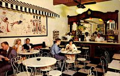 Vintage 1950s - Pere Antoine's Ice Cream Parlor, French Quarter, New Orleans