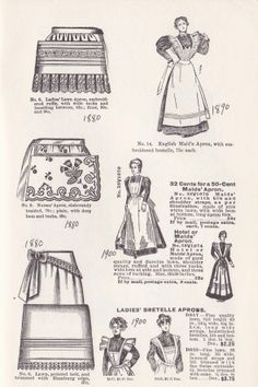 VICTORIAN WOMEN'S APRONS