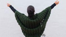 Tejer chaqueta kimono calada dos agujas tricot calceta
