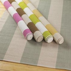 Wide Striped Rugs