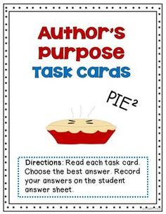 A comprehensive unit for Author's Purpose with a wide variety of meaningful activities.
