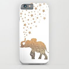 An elephant and glitter!! :: iPhone & iPod Case