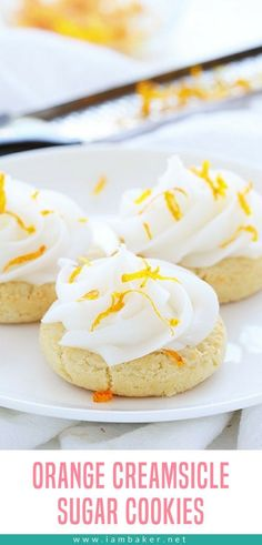 Delicious Orange Creamsicle Sugar Cookies are the ideal summer-time snack! #cookies