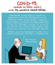 Illustration : Nathalie Jomard - grumeautique.blogspot.fr Take Care Of Yourself, Lol, Messages, Activities, Memes, Funny, Corona, Chistes, Humor
