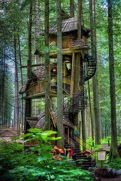 Three Story Treehouse, British Columbia, Canada