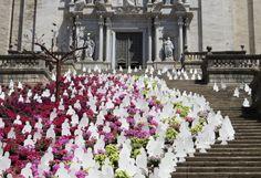 Escaleras de la Catedral Girona, Temps de Flors, Agora