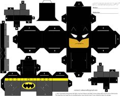 Batman Cubee Page 1 by BobTheEgg.deviant on - Womens Batman - Ideas of Womens Batman - Batman Cubee Page 1 by BobTheEgg. 3d Paper Crafts, Paper Toys, Paper Art, Diy And Crafts, Batman Party, Superhero Party, Jim Lee Batman, Paper Cube, Kpop Diy