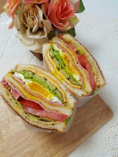 Breakfast Sandwich Recipes, Sandwiches For Lunch, Real Food Recipes, Cooking Recipes, Yummy Food, Bento, Home Food, Recipes From Heaven, Aesthetic Food