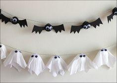 Halloween: DIY Bat & Ghost Garlands