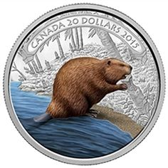 2015 20 Fine Silver Coin 1 oz Beaver at Work 15 RCM Royal Canadian Mint