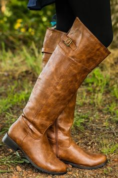 Wild Horses Riding Boots-Cognac - New Today | The Red Dress Boutique