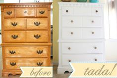 Nice Re-Vamp For A Chest Of Drawers...@Cassie G Ringl Might Like This For Her Bedroom Redo...