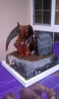 Grim Reaper Birthday Cake I Made For My Brothers 50th
