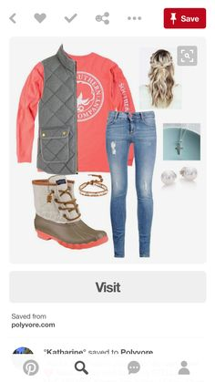 A fashion look from January 2016 featuring J.Crew vests, STELLA McCARTNEY jeans and Sperry boots. Browse and shop related looks. Fashion Models, Look Fashion, Womens Fashion, Fashion Trends, Fashion Fall, Cheap Fashion, Affordable Fashion, High Fashion, Fall Winter Outfits