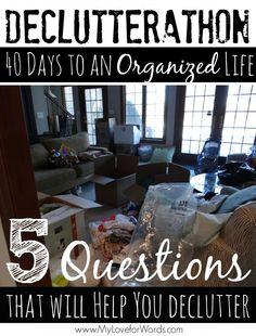 5 Questions that will Help you Declutter