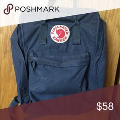 Gray fjallraven kanken backpack Used, 7/10 condition Fjallraven Kanken Bags Backpacks