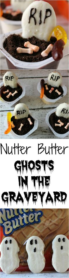 Nutter butter Ghosts in the Graveyard - a delicious spooktacular treat! #SpookySnackLab