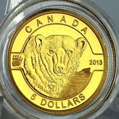 Canadian Coins, Valuable Coins, O Canada, Proof Coins, Commonwealth, Gold Coins, Troy, Polar Bear, Sailor Moon