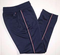 Tommy Hilfiger athletic track pants size large  #TommyHilfiger #trackPants