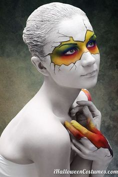 cracked statue costume makeup