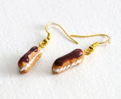 Hey, I found this really awesome Etsy listing at https://www.etsy.com/listing/115786066/eclair-earrings-cute-miniature-food