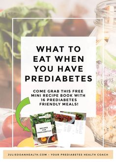 """If you're like most people living with prediabetes, you were probably told to """"improve your diet"""" by your health professional. He/she gave you a long list of foods to avoid, but forgot to tell you what you could actually HAVE. That's why I'm here to hel Pre Diabetic Diet Plan, Diabetic Food List, Diet Food List, Food Lists, Diabetic Tips, Diabetic Snacks, Diabetes Information, Nutrition Information, Type 2 Diabetes Treatment"""