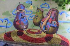 Mural Pears by Stern in Plovdiv. Bulgaria #graffiti